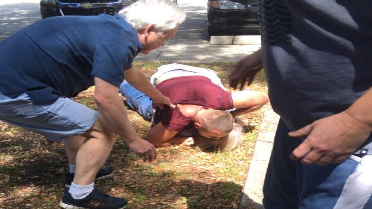 Man tried to choke elderly woman walking her dog