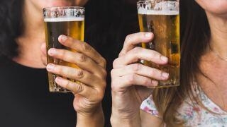 Women holding beers