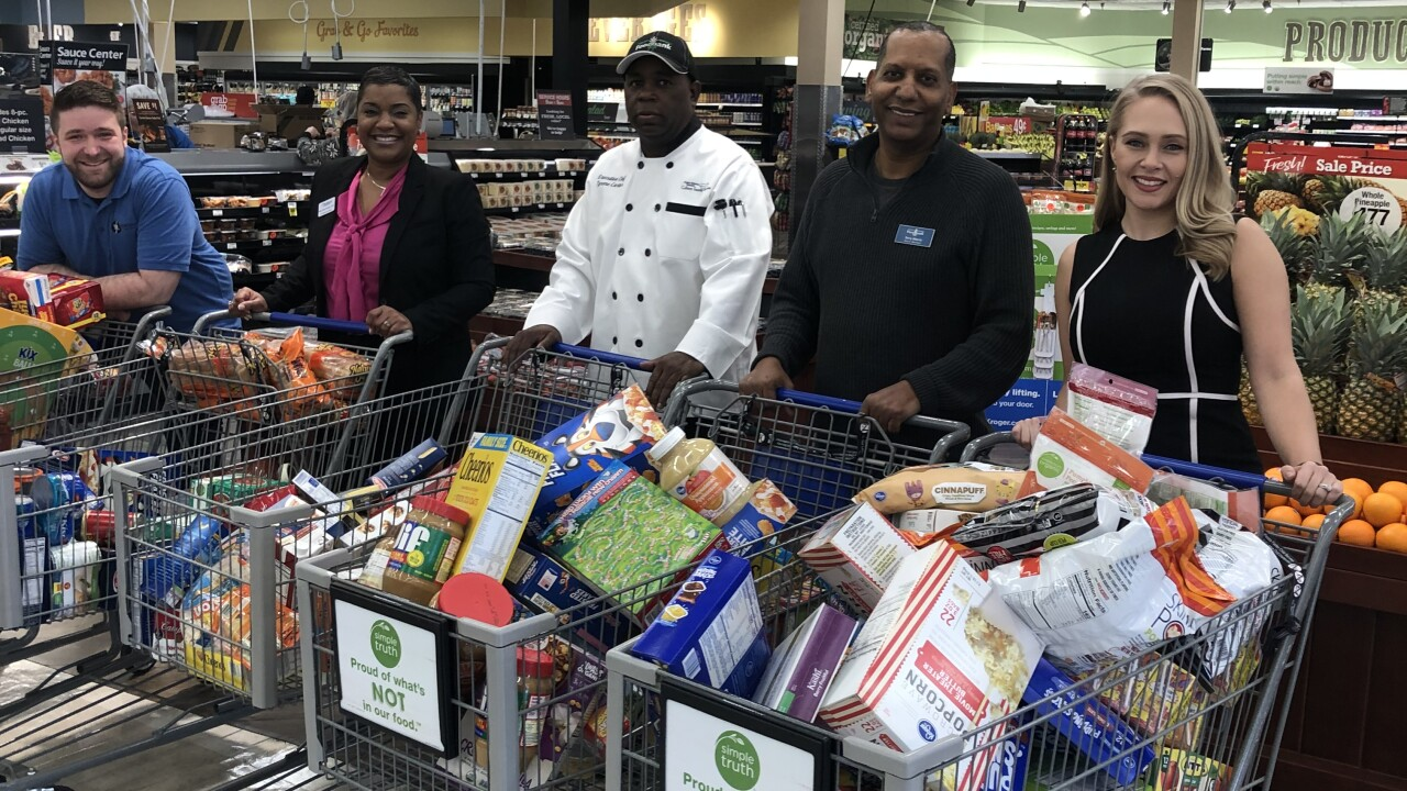 Inaugural 'Shop to End Hunger' stocks local food bank shelves with friendly competition