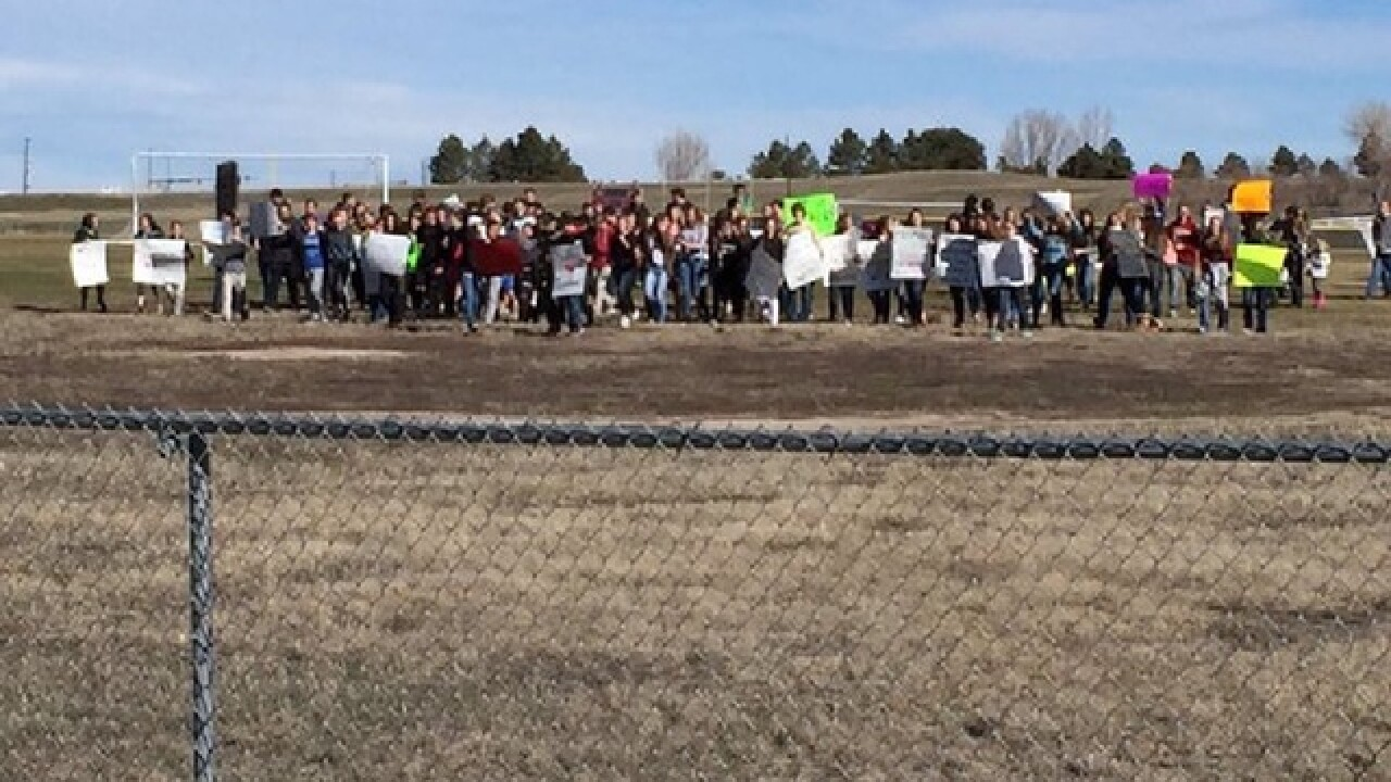 Students walk out of Ponderosa H.S. in protest
