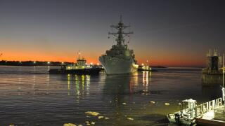 USS Fitzgerald (DDG 62) leaves for sea trials