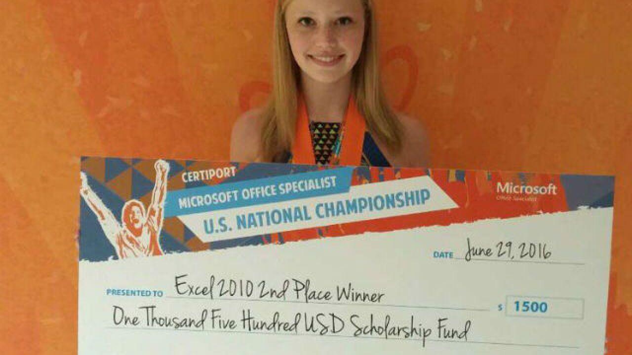 walton verona high school graduate erica sandlin excels in national