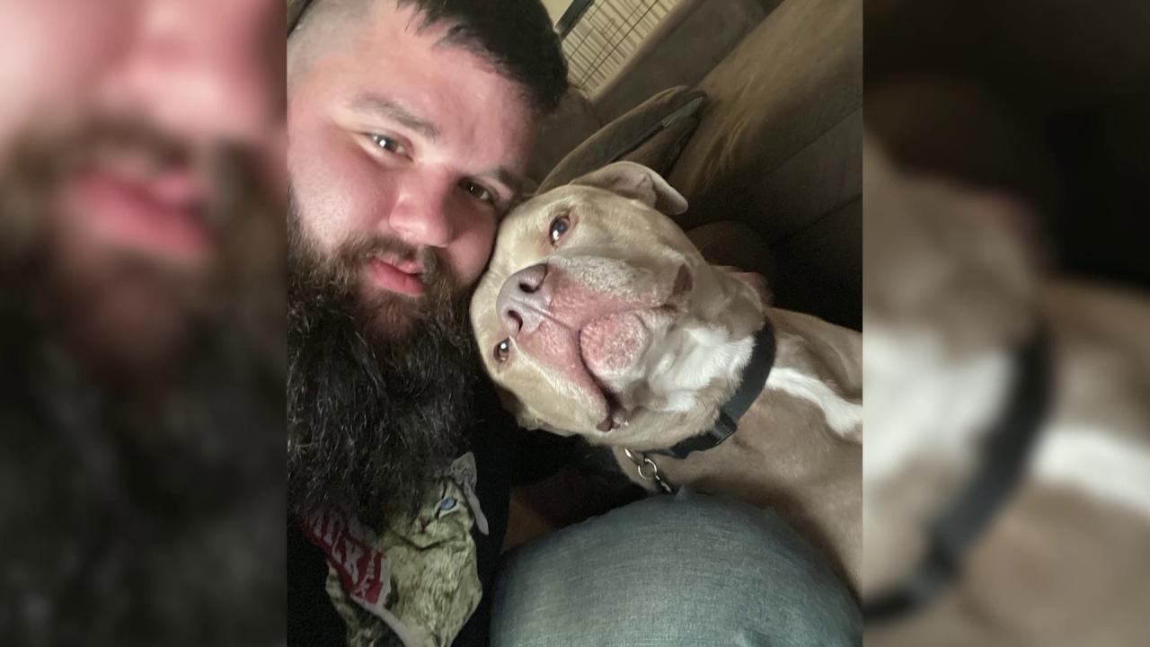 Hercules and his owner John Bliss