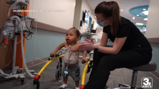 Omaha child leaves hospital for first time