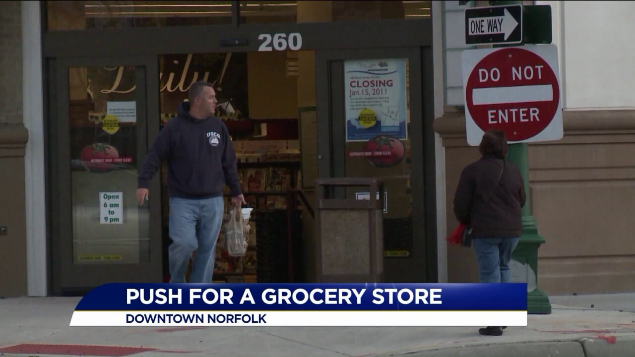 Could a new movement lead to a grocery store in Downtown Norfolk?