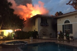 Photos: Several cars destroyed in Naples mansion fire