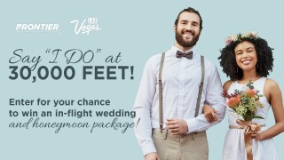 Frontier Airlines launches Wedding in the Sky giveaway, which includes trip to Las Vegas