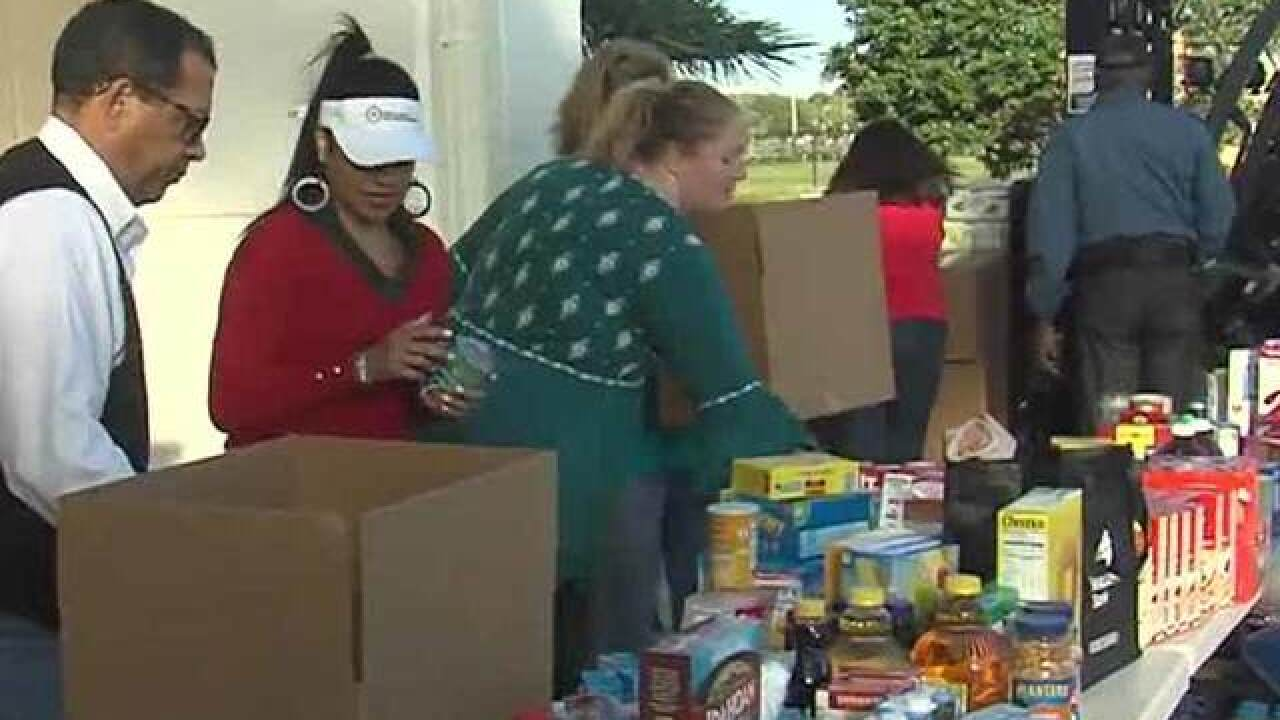 All-day food drive at WPTV in downtown West Palm Beach