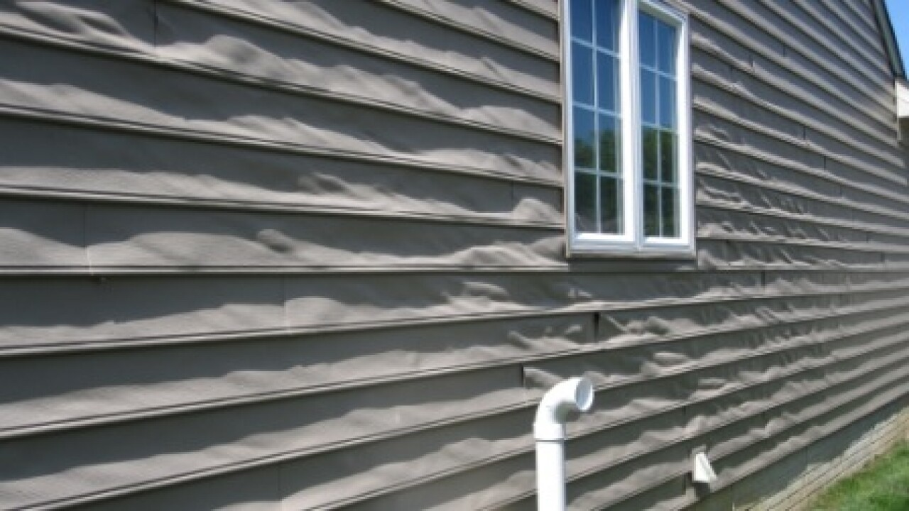 Vinyl siding is melting on some newer homes