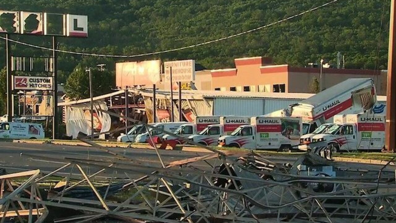 Pennsylvania town surveys damage after strong storms hit