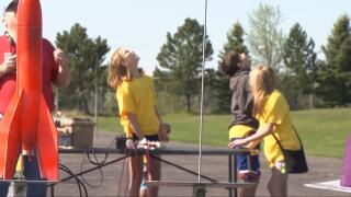 Billings elementary students launch rockets to celebrate end of school year