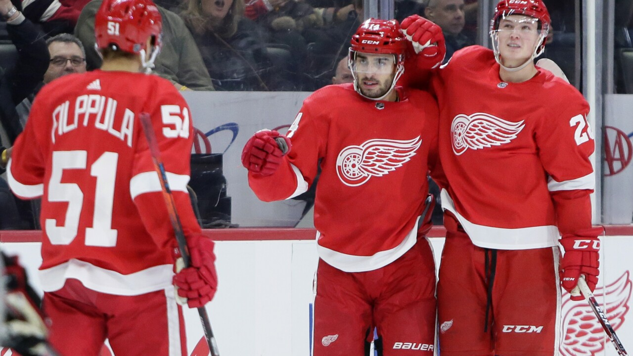 Bright-spot Robby Fabbri scores and Red Wings beat Blackhawks