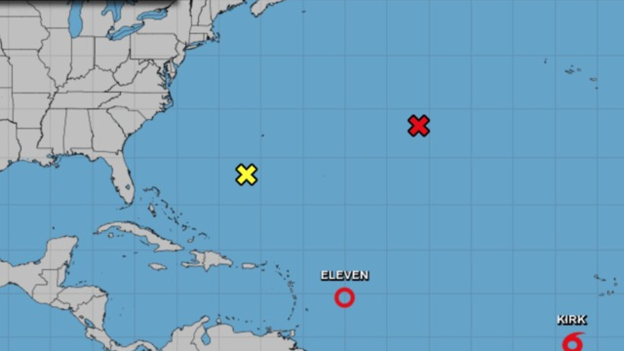 As cleanup from Florence continue, officials keep an eye on Tropical Storm Kirk