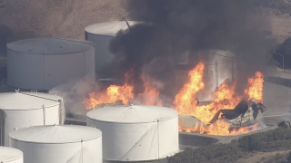 Shelter in place issued because of hazardous materials release from a California refinery fire