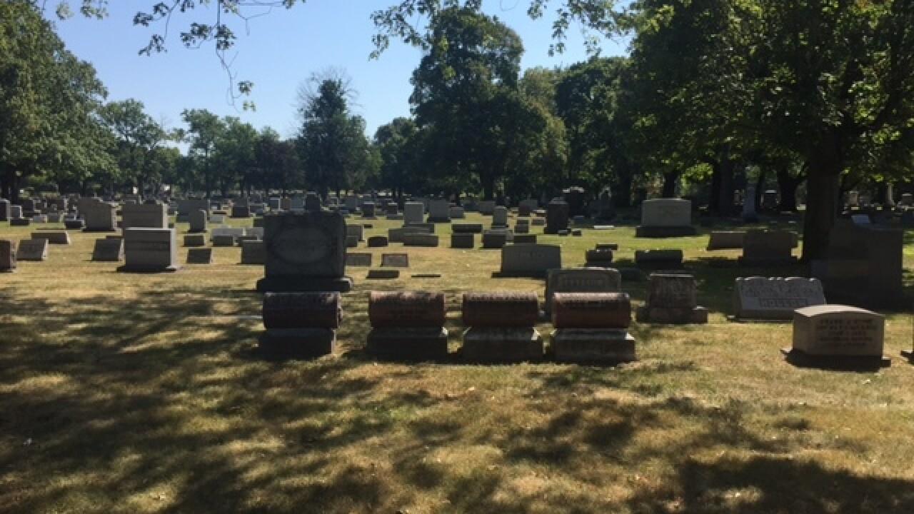 Akron mausoleum broken into, remains dumped out