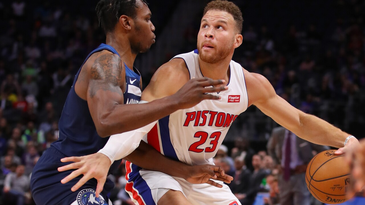 Timberwolves spoil Blake Griffin's return, beat Pistons