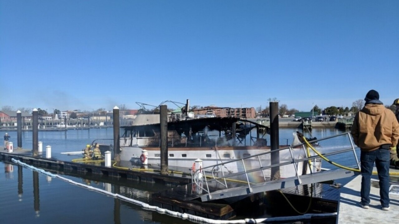 Coast Guard, local officials respond to boat fire in Cape Charles