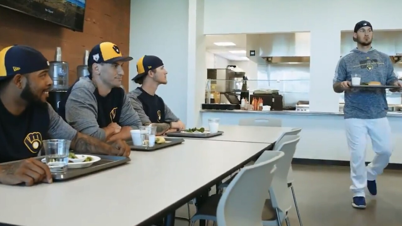 "Brewers take on ""Mean Girls"" in this spring training video"