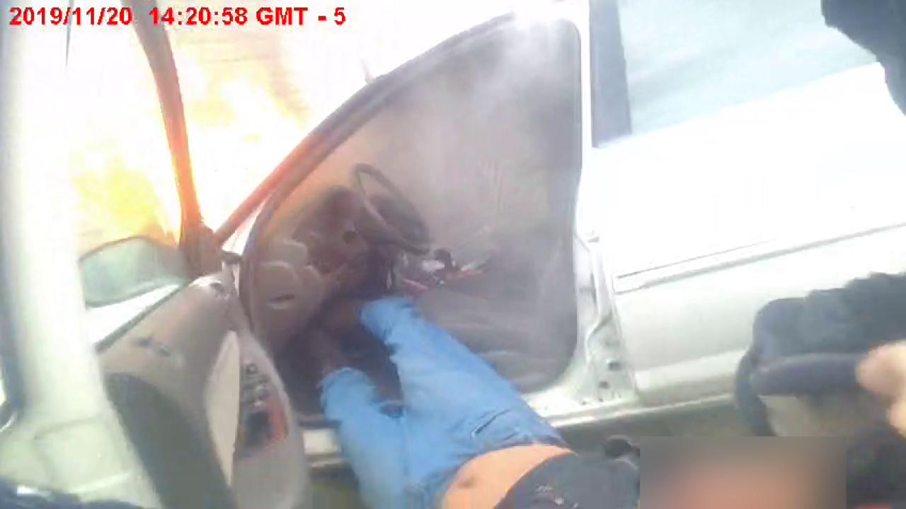 Canton car crash, fire