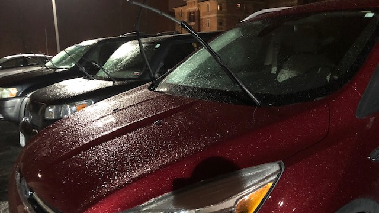 Ice covered cars