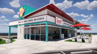 Eegee's released this prototype, shipping-container design for a new restaurant coming to the Landing on Irvington Road early next year.