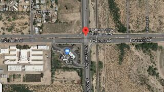 Tiffany Marie Shaw, 35, died at the scene. She was driving eastbound on Valencia Road and turning left onto Nogales Highway when she was hit by a vehicle speeding westbound through the intersection. Photo via Google Maps.
