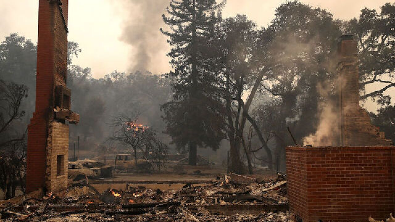 Wildfires rage in California's wine country