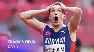 Track & Field Day 5: Warholm bests Benjamin, own world record for gold