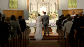 Louisiana couple weds as a potential hurricane grows closer — just like the bride's grandparents