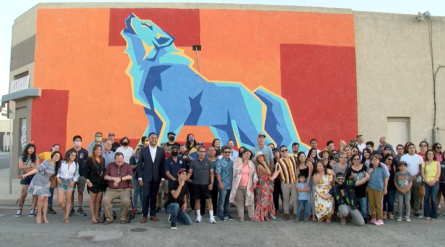 Wolf of L Street mural