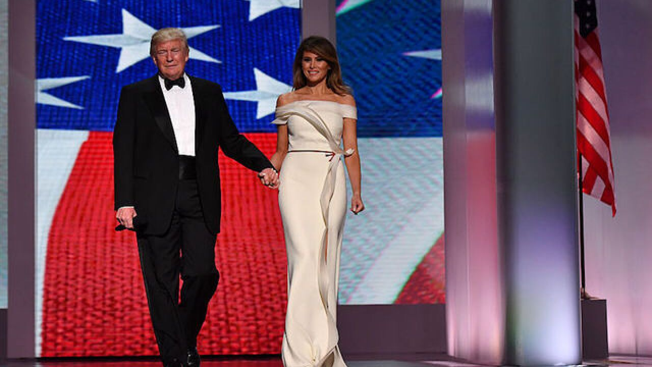 Photos: First Lady Melania Trump donates inaugural ball gown to Smithsonian