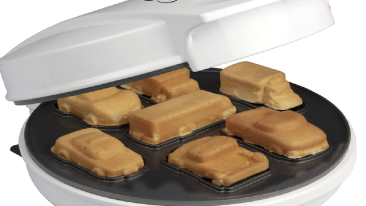 Waffle Maker Creates Edible Cars And Trucks
