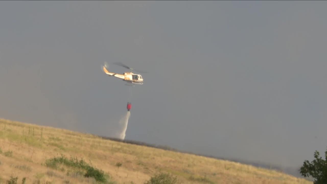 Mount Sentin el Fire Helicopter