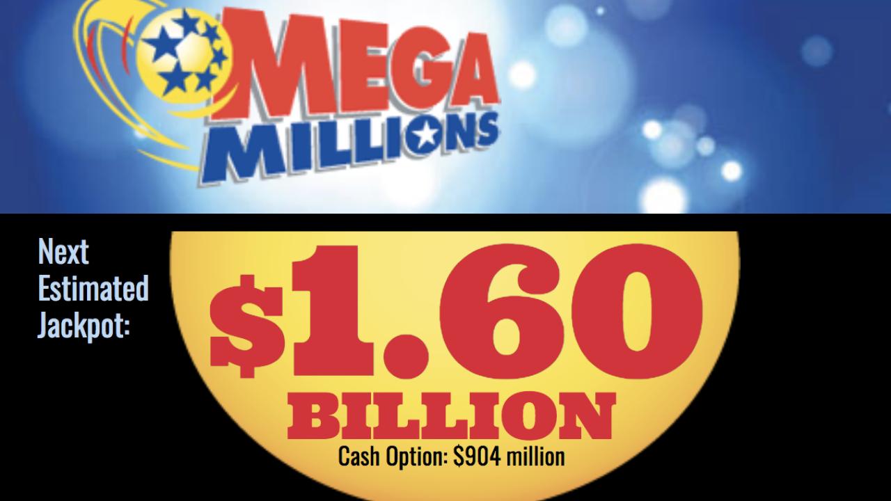 2 Virginians win $1 million; Mega Millions jackpot hits $1.6billion