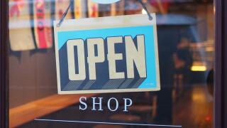 Open sign at store
