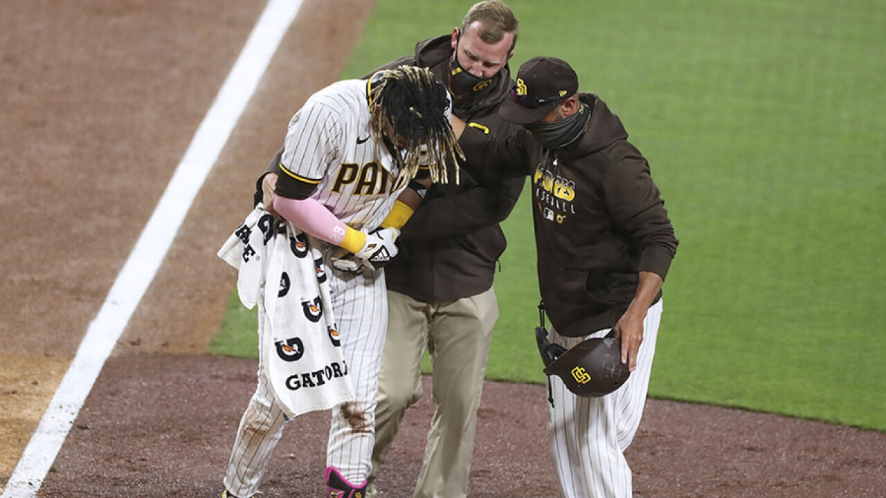 Giants Padres Baseball fernando tatis jr injury