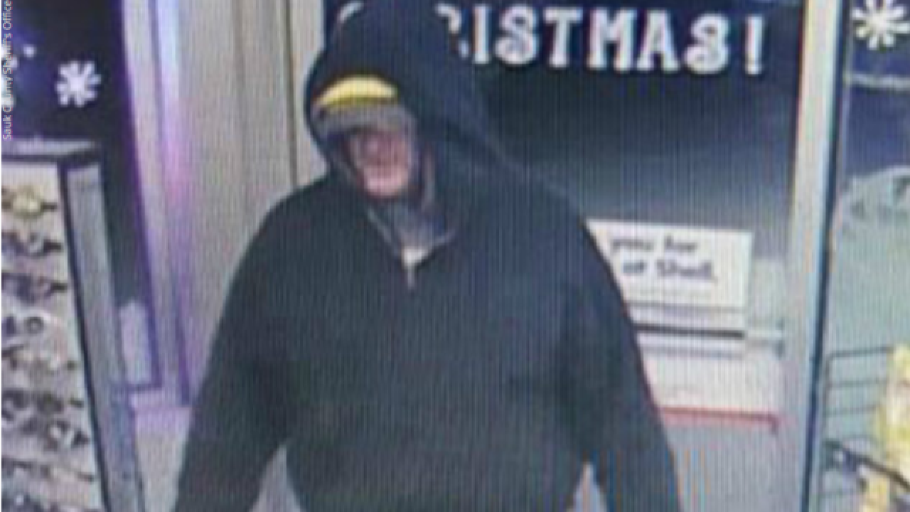 Sauk County Deputies search for gas station robber wearing Packers hat