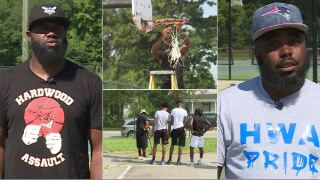 Men improve community basketball courts: 'Find a solution, just get it done'