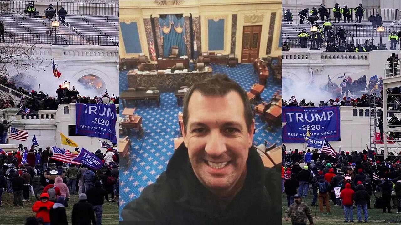 "Tony Mariotto ""selfie"" Capitol riot background"