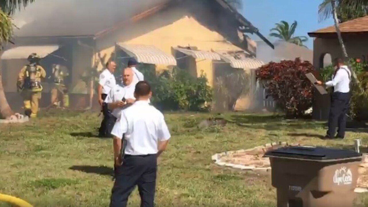 Structure fire damages Cape Coral home Tuesday
