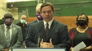 Florida Gov. Ron DeSantis gives a COVID-19 update in Jacksonville on Feb. 25, 2021.jpg