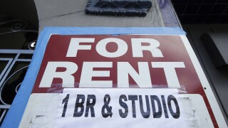 for rent 1 br studio sign