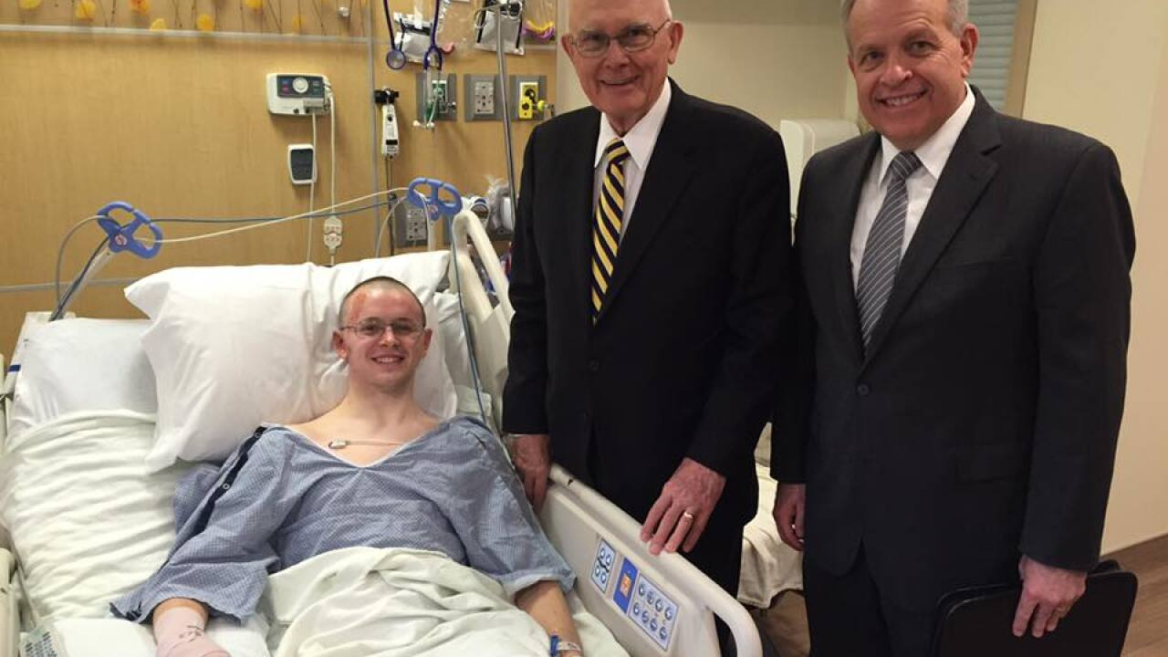LDS leaders visit hospital to meet with missionary injured in Brussels attack