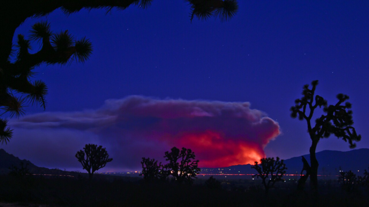 Blue Cut fire: Instagram users capture wildfire in stunning images