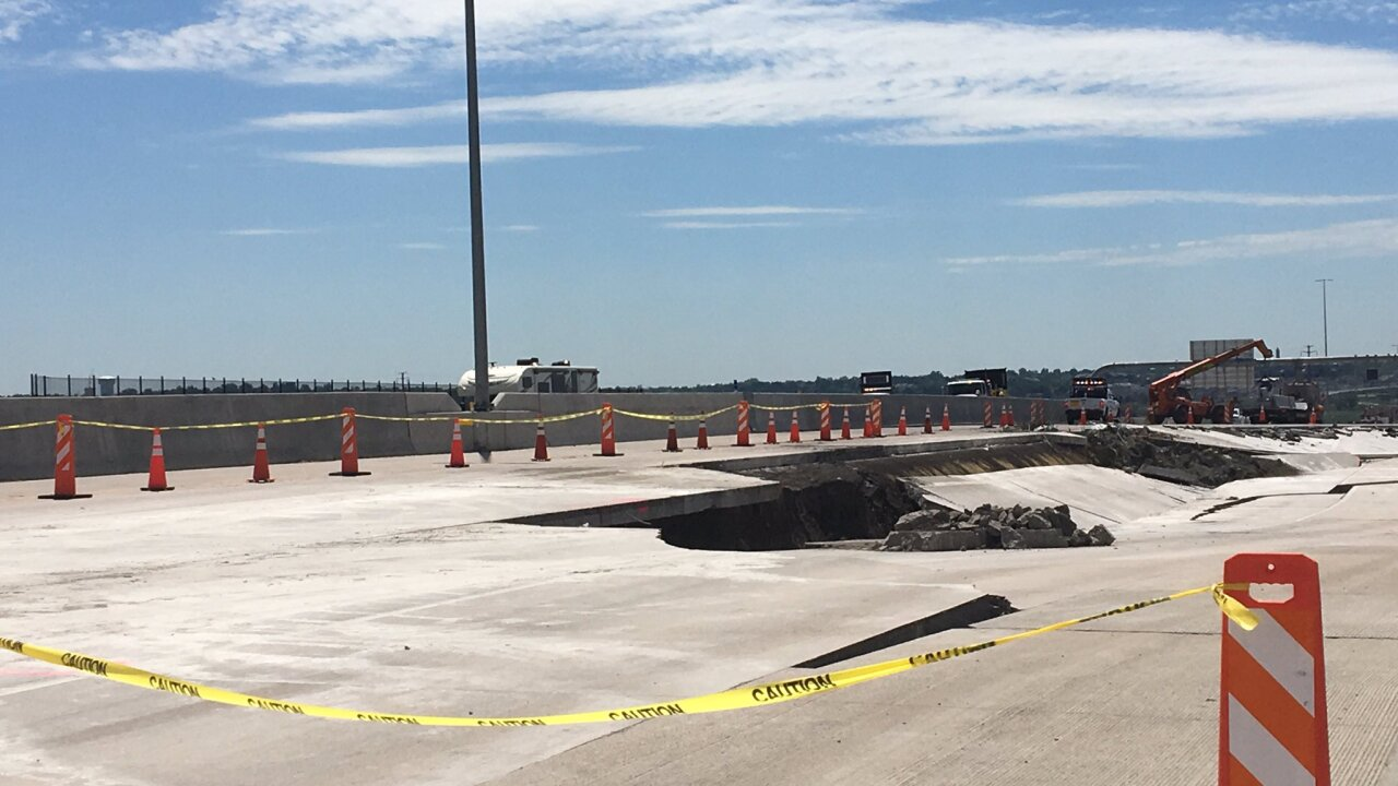 Soil still shifting beneath cracked U.S. 36; no timeline for reopening