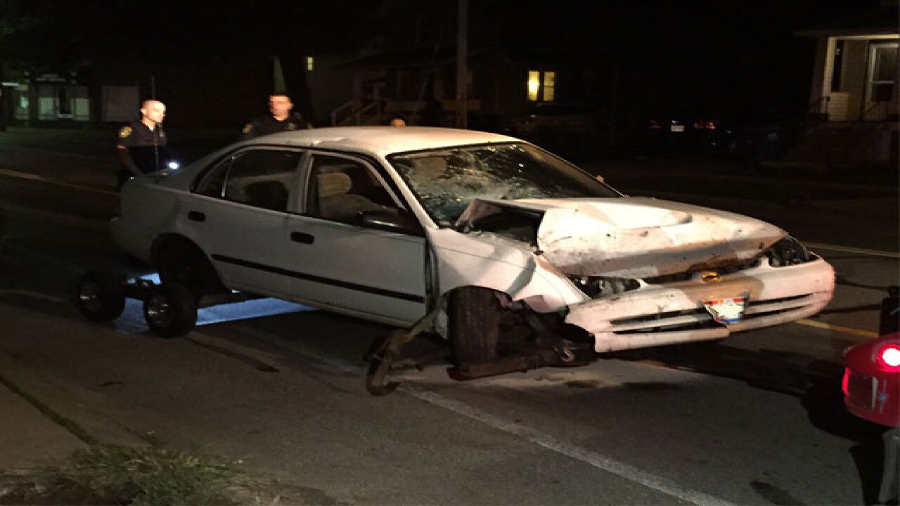 Man crashes through fence, arrested for OVI