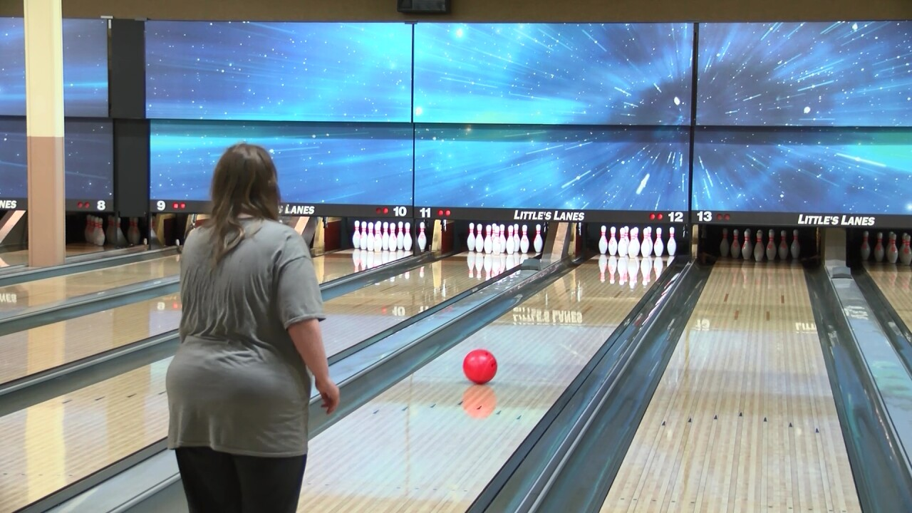 Great Falls Lions participate in Bowling Blitz