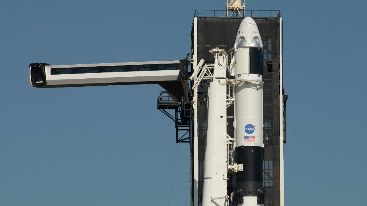 Crew Dragon capsule manned SpaceX rocket launch