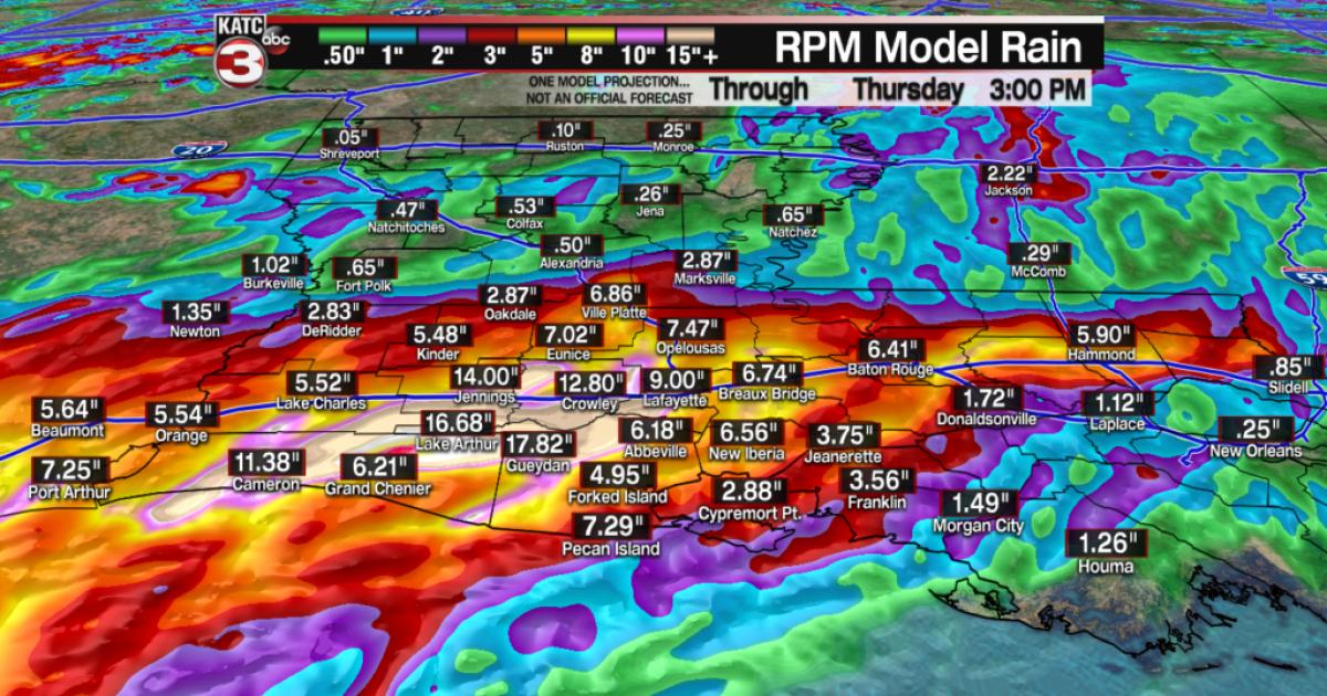 Tropical heavy rain and flood threat for Acadiana