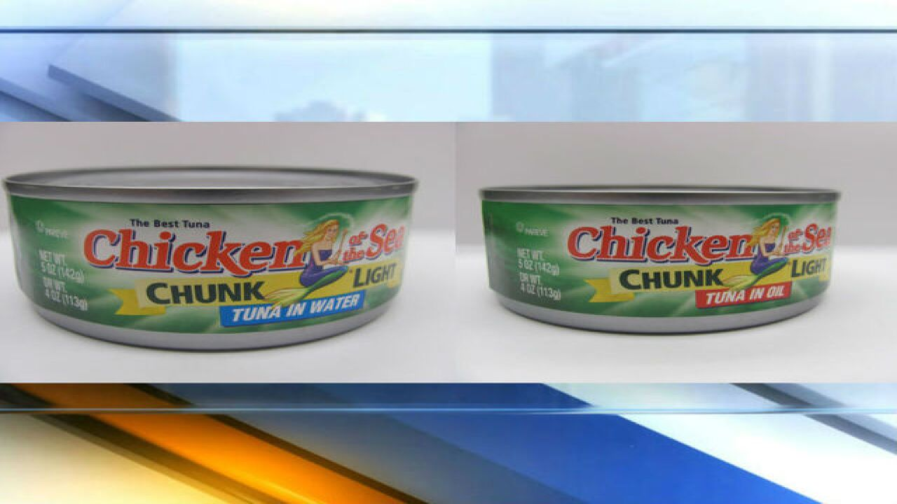 RECALL: 100K cans of Chicken of the Sea tuna